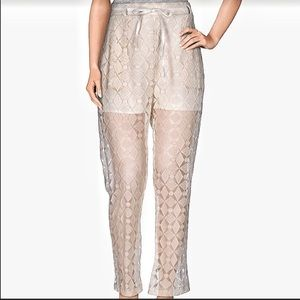 Italian  lace crochet  pants